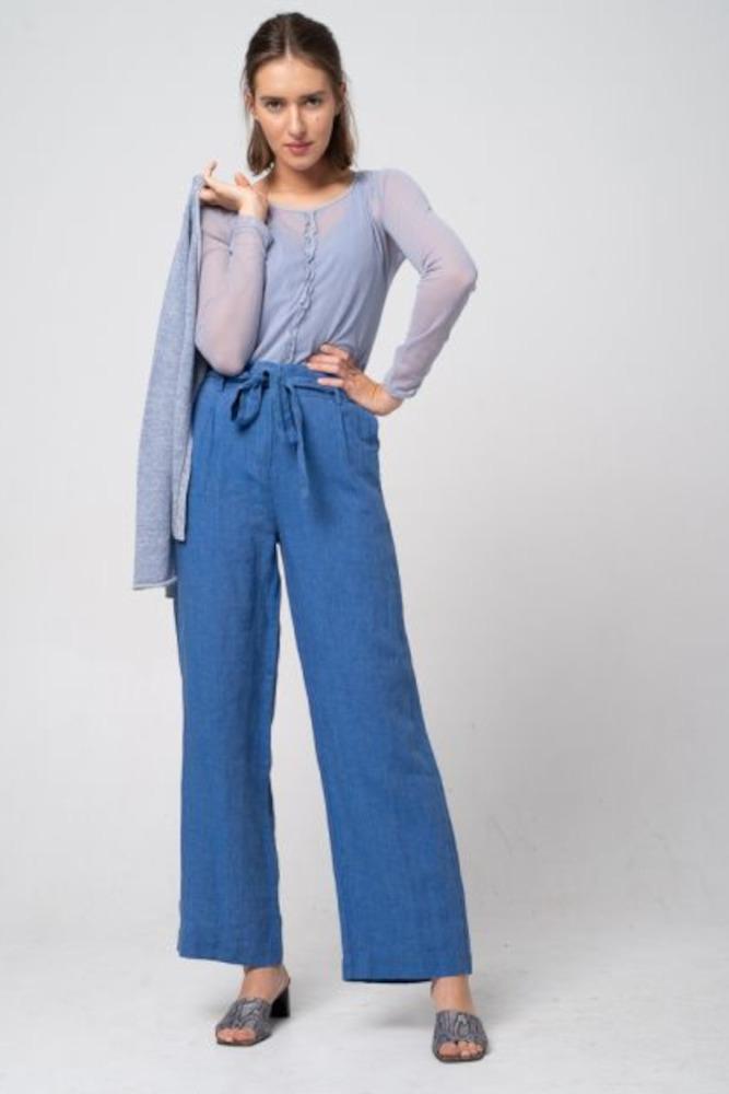 Alma & Lovis Hose Leinen Orient Blue 1