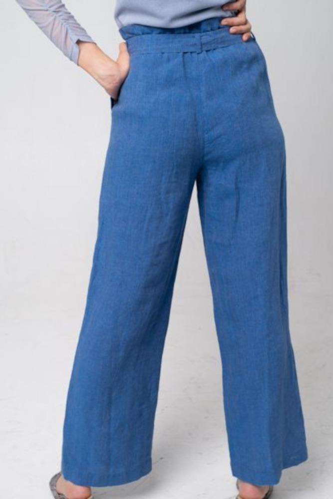 Alma & Lovis Hose Leinen Orient Blue 3