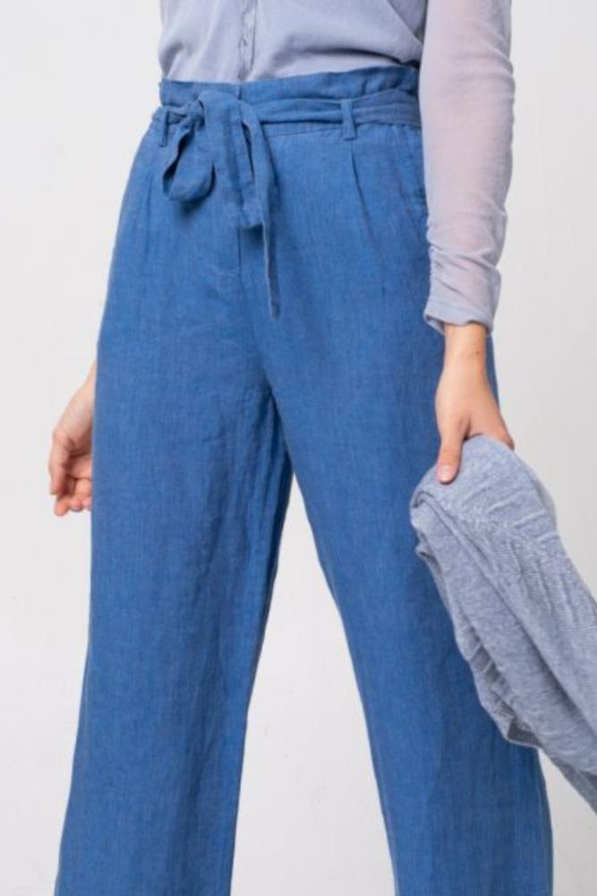 Alma & Lovis Hose Leinen Orient Blue 5