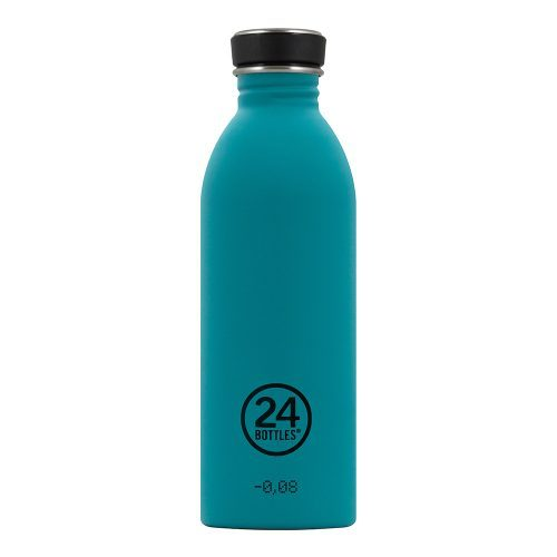 Trinkflasche aus Edelstahl von 24bottles in türkis