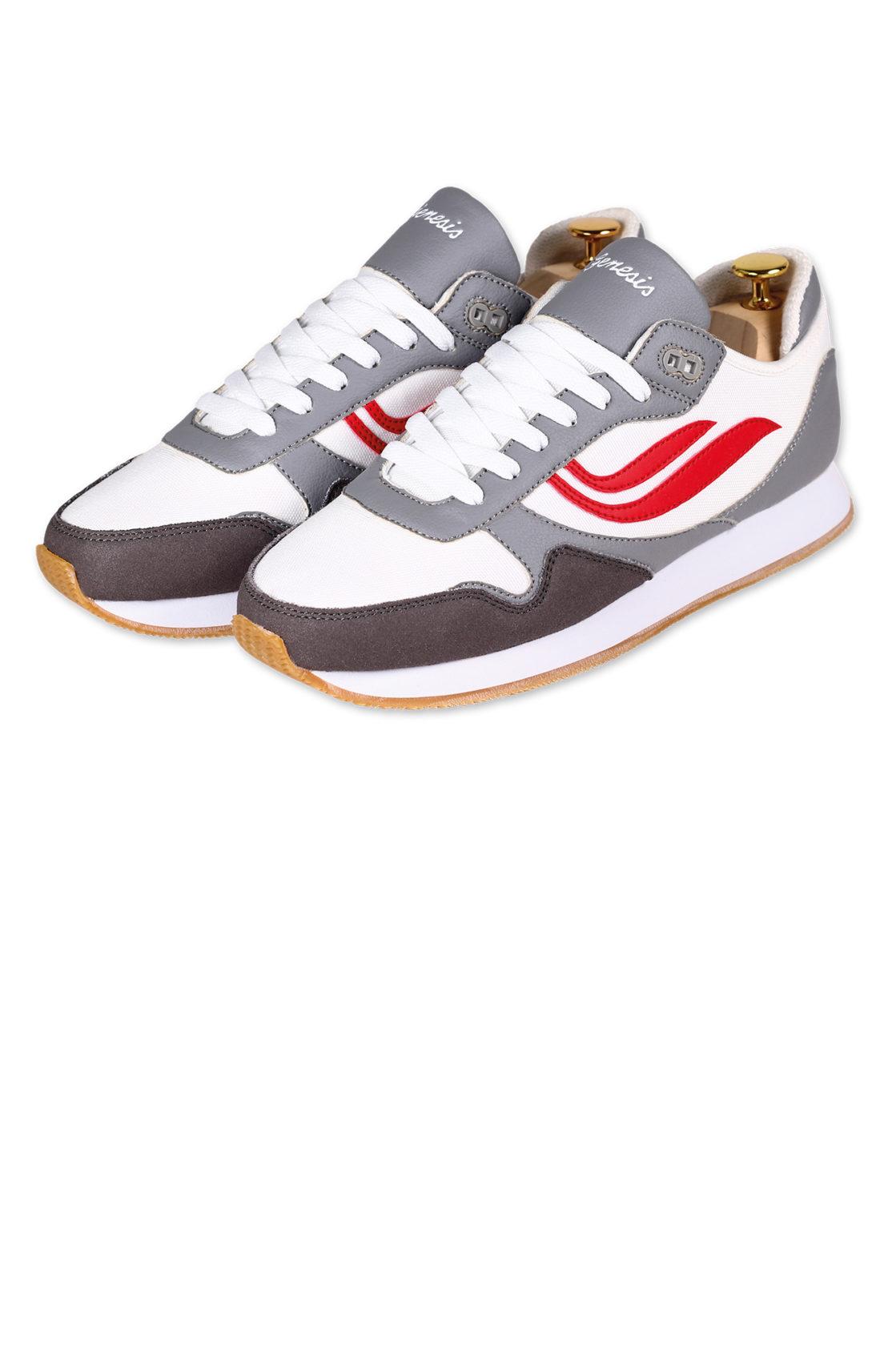 Genesis | Sneaker Iduna grey/ white/ red - vegan