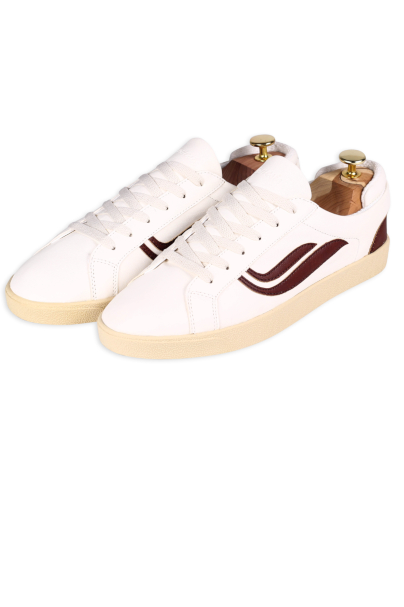 Genesis Sneaker Hela Weiss Mahagoni 1