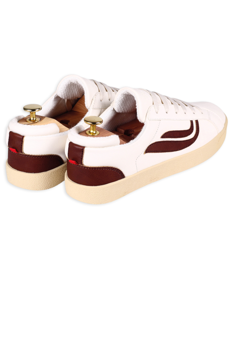 Genesis Sneaker Hela Weiss Mahagoni 2