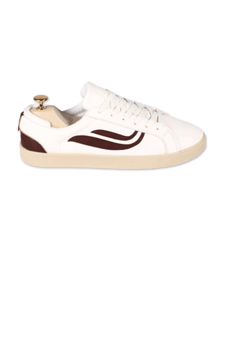 Genesis Sneaker Hela Weiss Mahagoni 3