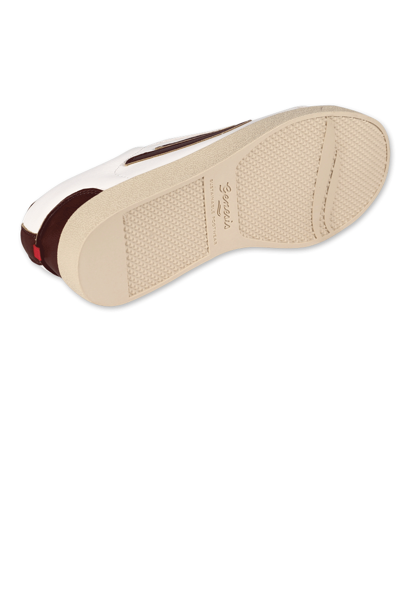 Genesis Sneaker Hela Weiss Mahagoni 5