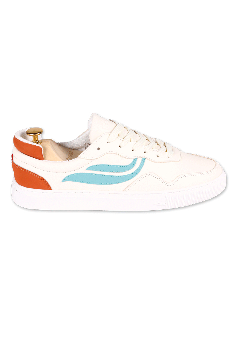 Genesis Sneaker Soley Tumbled White Türkis Orange D