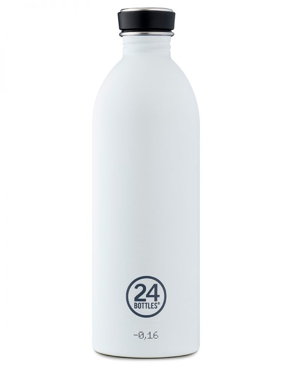 Trinkflasche von 24bottles in ice white