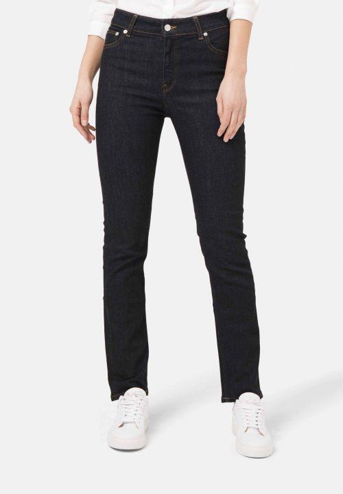 highwaist Jeans straight cut Mud regular swan