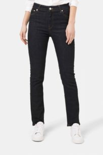 highwaist Jeans straight cut Mud regular swan