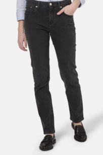 Mom Jeans Sretch MImi in stone black von Mud
