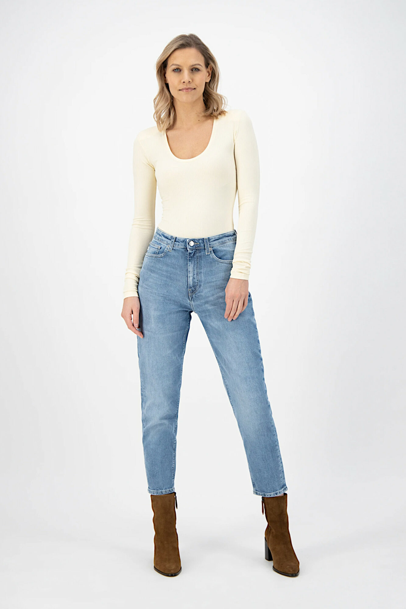 Mud Jeans Mams Stretch Old Stone 4