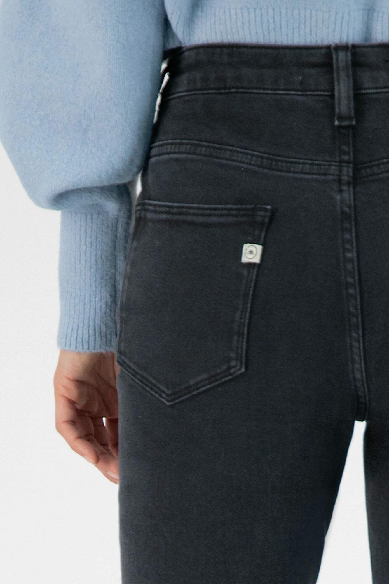 Mud Jeans Stretch Mimi Stone Black 2