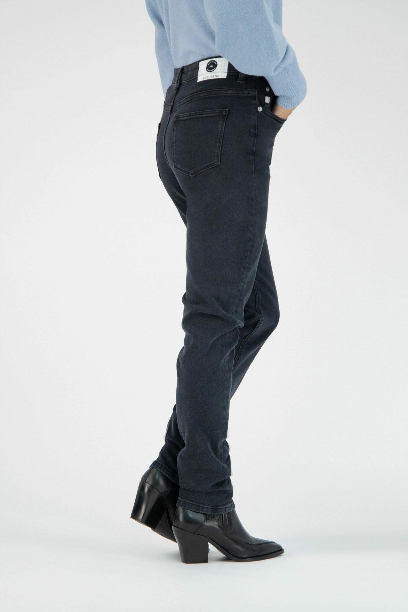 Mud Jeans Stretch Mimi Stone Black 4