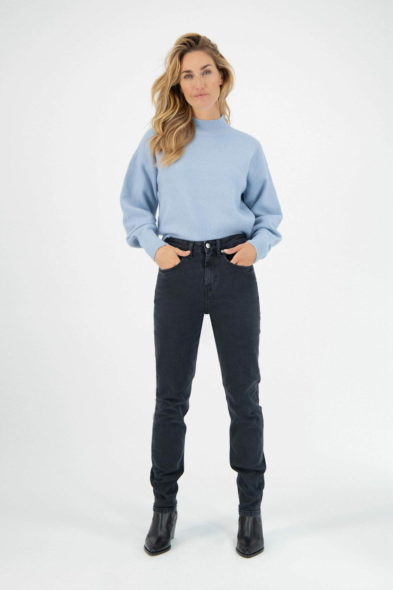 Mud Jeans Stretch Mimi Stone Black 5