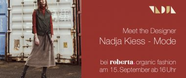Nachhaltige Mode von Nadja Kiess bei roberta organic fashion Düsseldorf