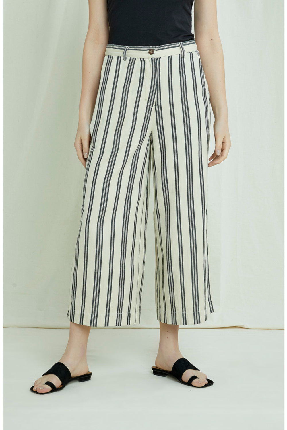 Peopletree Culotte Shauna Striped 2