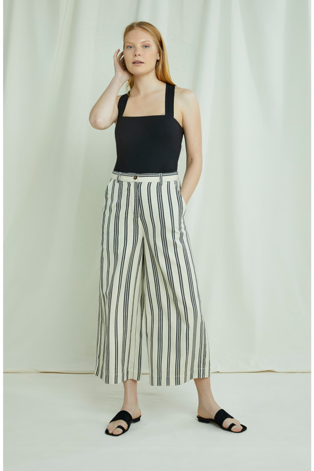 Peopletree Culotte Shauna Striped 4
