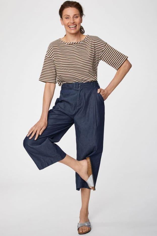 Roberta Organic Fashion Thought Culottes navy 4
