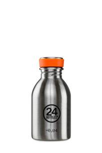 KLeine Trinkflasche von 24bottles in silber