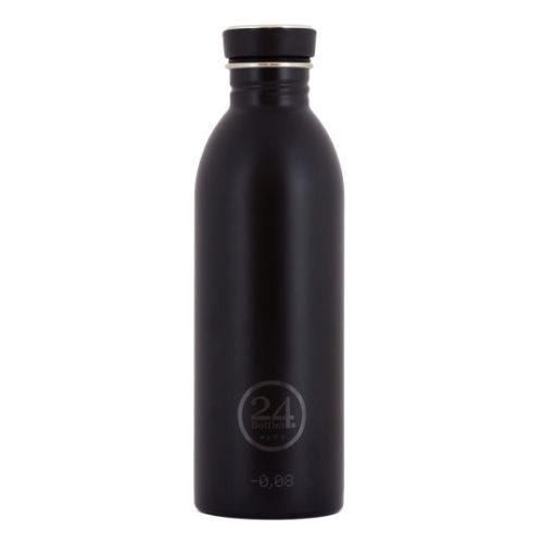 Trinkflasche von 24bottles in schwarz