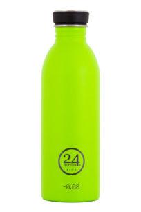 Trinkflasche aus Edelstahl von 24bottles in lime green
