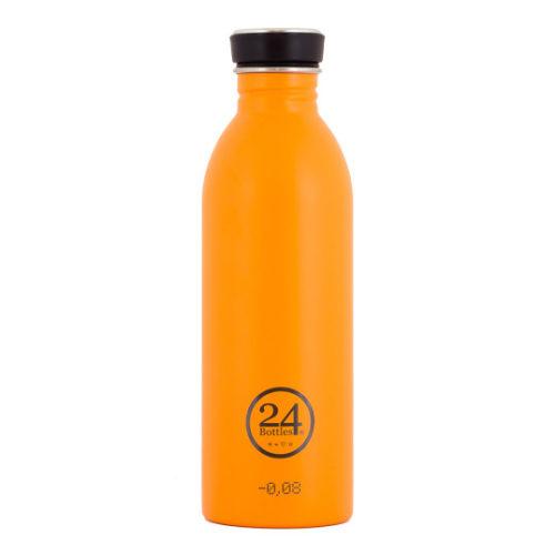 Trinkflasche aus Edelstahl von 24bottles in orange
