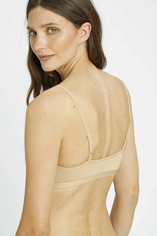 roberta oganic fashion Peopletree Bralette nude