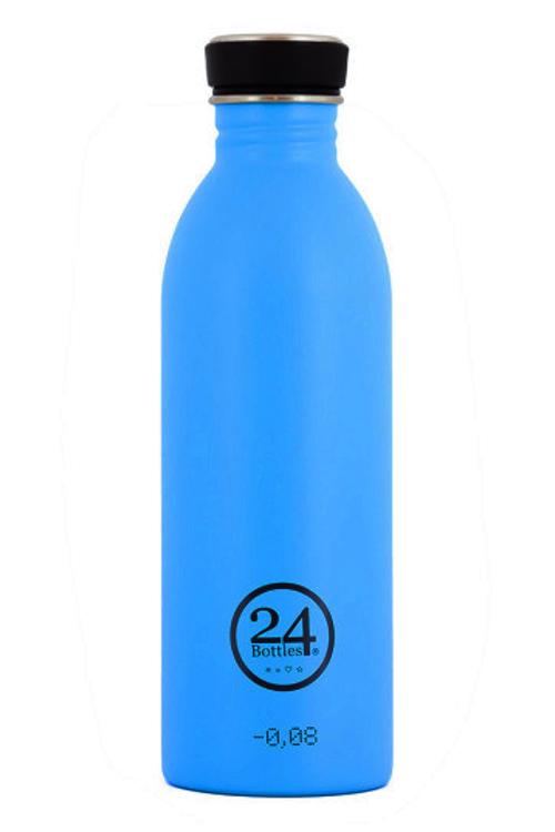 Trinkflasche aus Edelstahl von 24bottles in lagoon blue bei roberta organic fashion