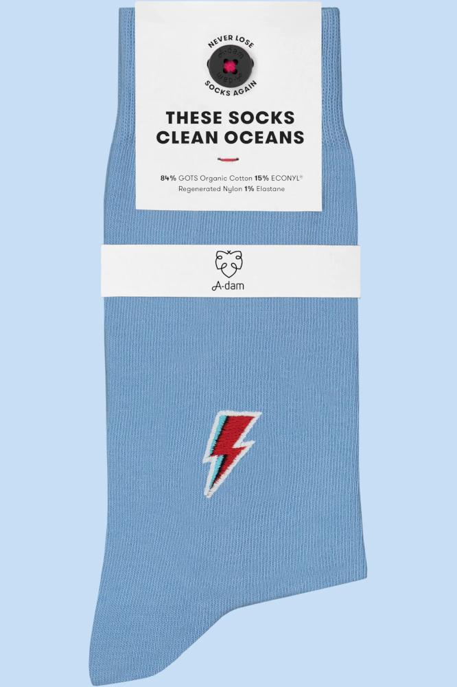 Roberta Organic Fashion Adam Socks Dave Blitz Hellblau 1
