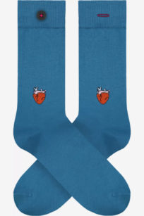 Roberta Organic Fashion Adam Socks Hans Heart Blau 1