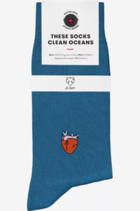 Roberta Organic Fashion Adam Socks Hans Heart Blau