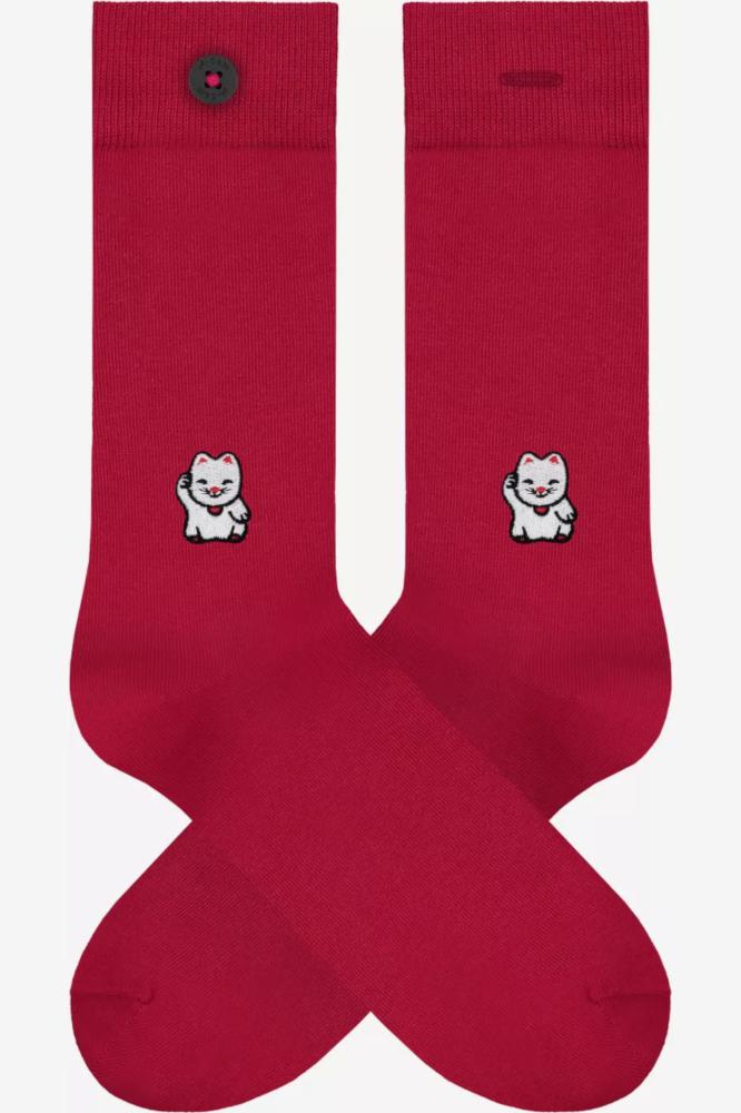 Roberta Organic Fashion Adam Socks Loek Winkekatze Rot 1