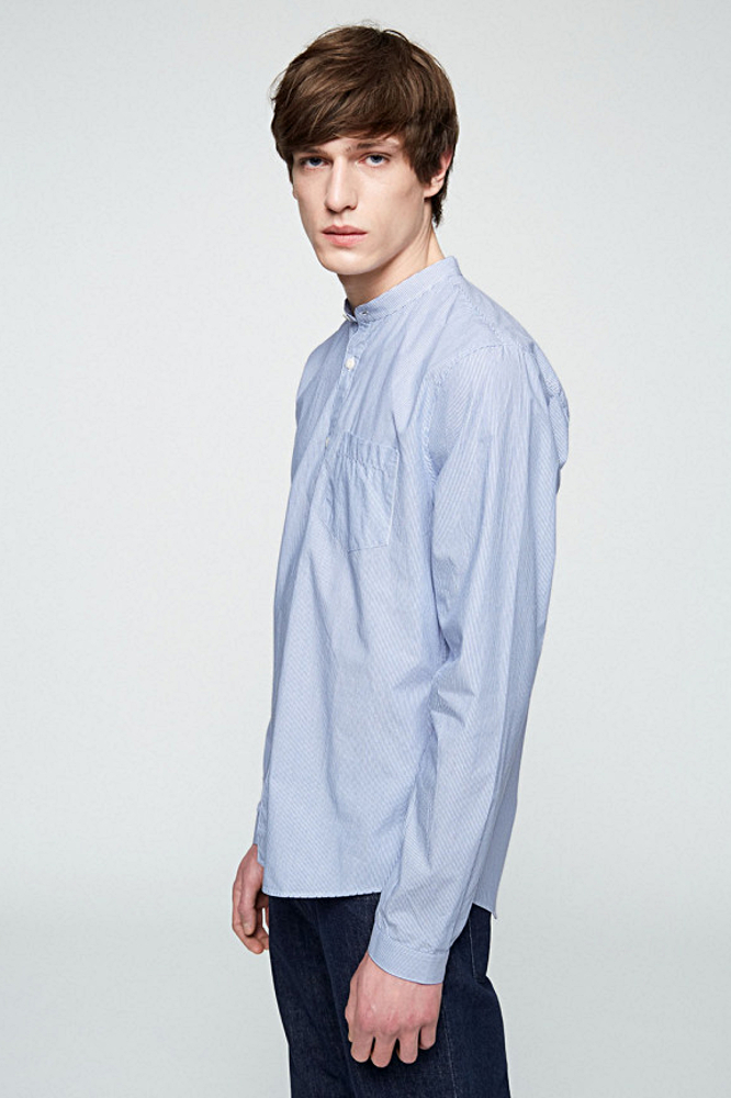 roberta organic fashion Armedangels Hemd Männer Taal gestreift side