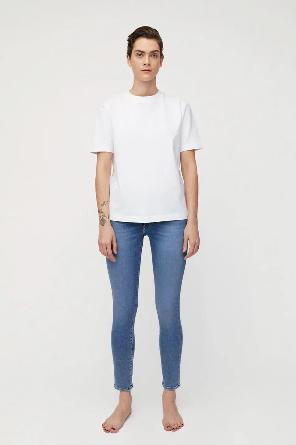 roberta organic fashion Armedangels Jeans Tillaa Stretch sky blue 4