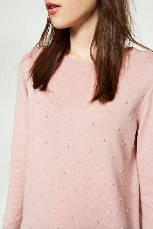 roberta organic fashion Strickpulli in rosa Ekin dots Armedangels
