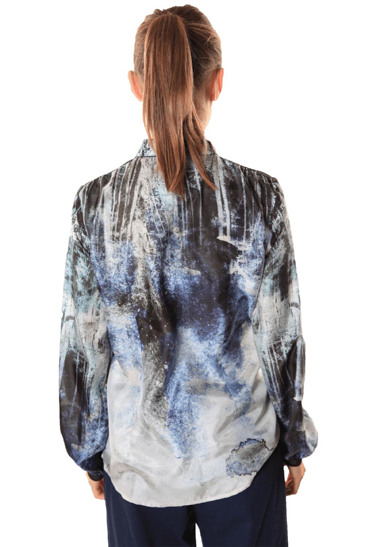 roberta organic fashion Düsseldorf Inti Ferreira Seidenbluse back