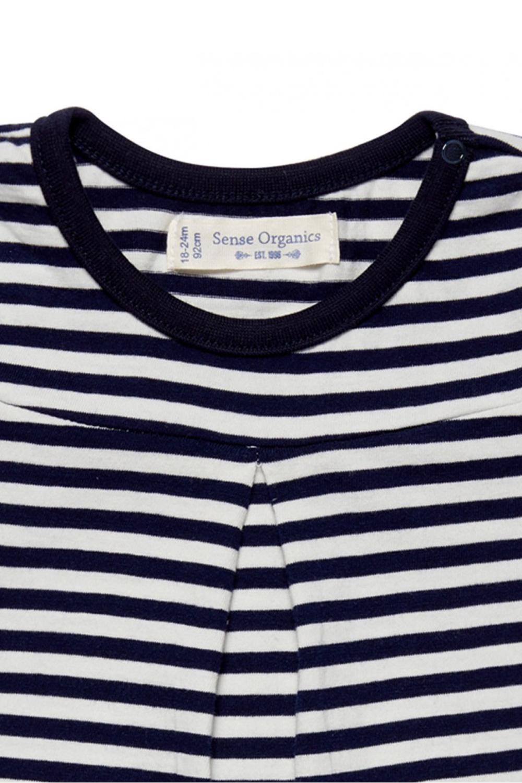 roberta organic fashion Düsseldorf navy weiß gestreiftes Mädchen Shirt detail2