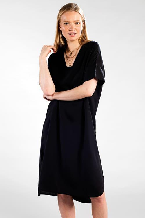 Kaftan Kleid von Dedicated in Schwarz