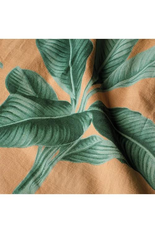 roberta organic fashion Dedicated Kaftan dress khaki leaves 6
