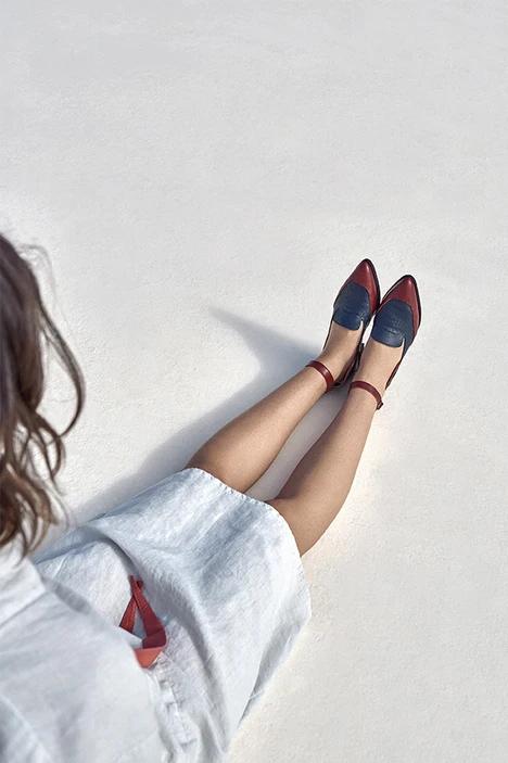 Roberta Organic Fashion Düsseldorf Marita Moreno Schuhe Ermione Red 3