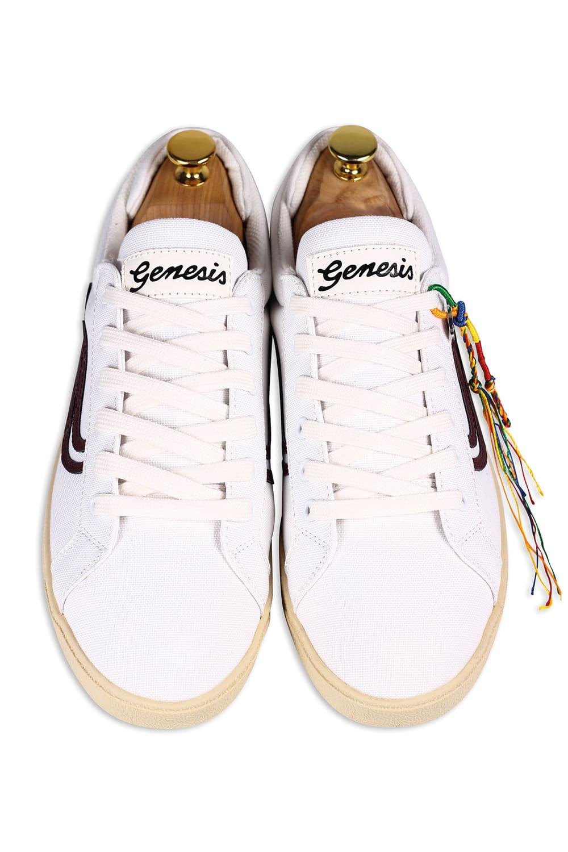 roberta organic fashion Genesis Sneaker Hela canvas white wine 3