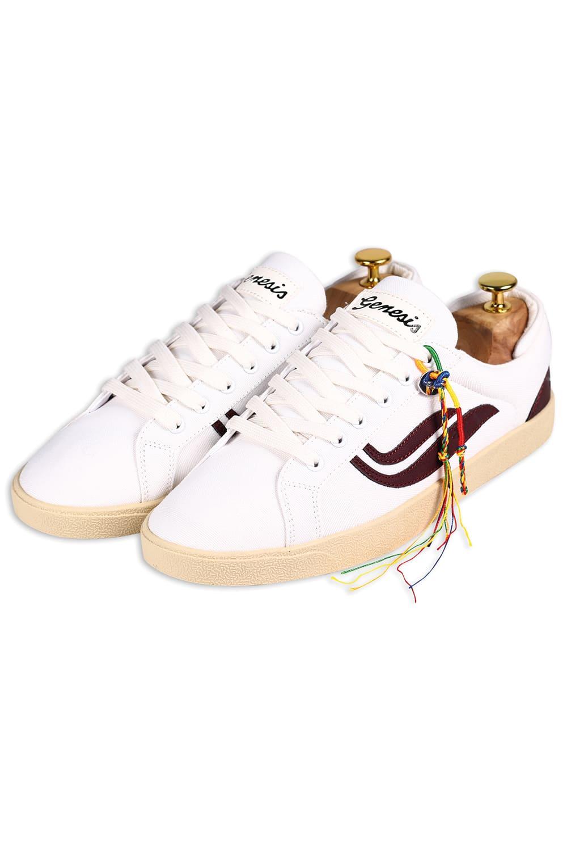 roberta organic fashion Genesis Sneaker Hela canvas white wine 5
