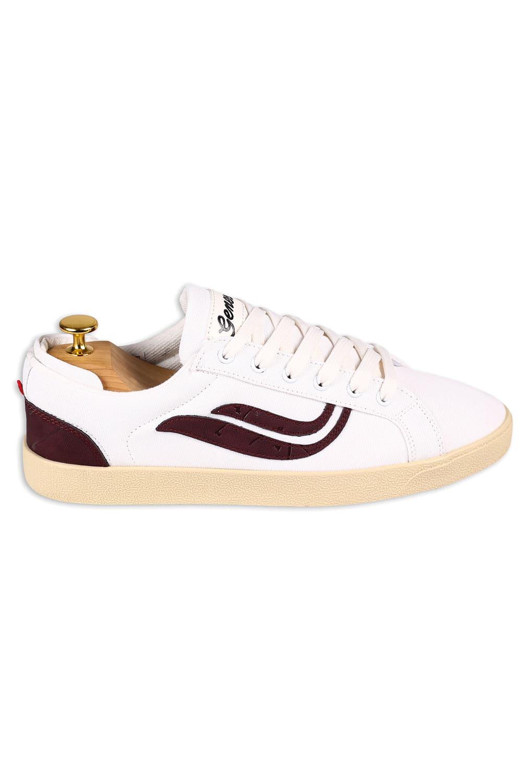 roberta organic fashion Genesis Sneaker Hela canvas white wine