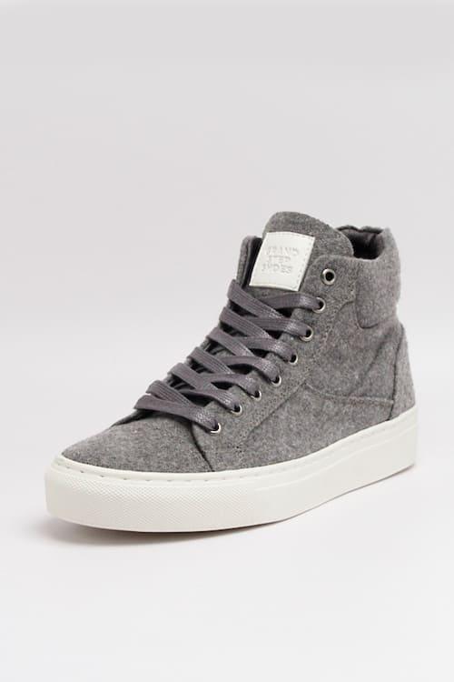 roberta organic fashion Grand Step shoes Sneaker Hightop Sally felt grey 1