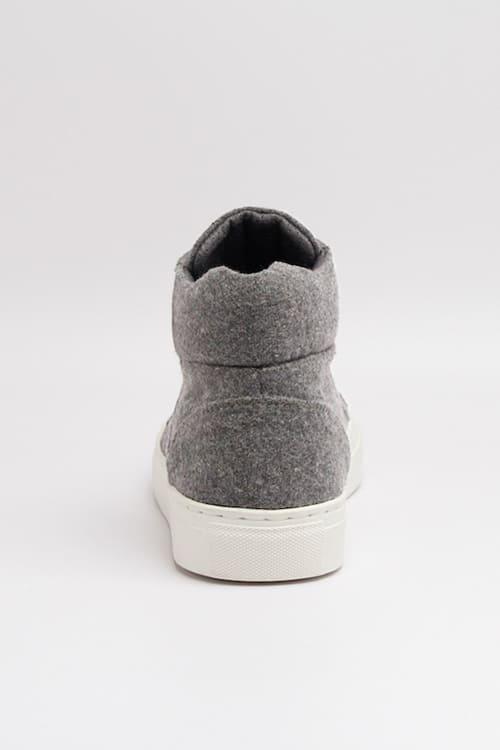 roberta organic fashion Grand Step shoes Sneaker Hightop Sally felt grey 2