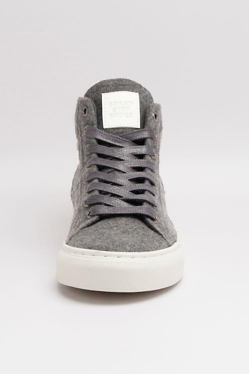 roberta organic fashion Grand Step shoes Sneaker Hightop Sally felt grey 3