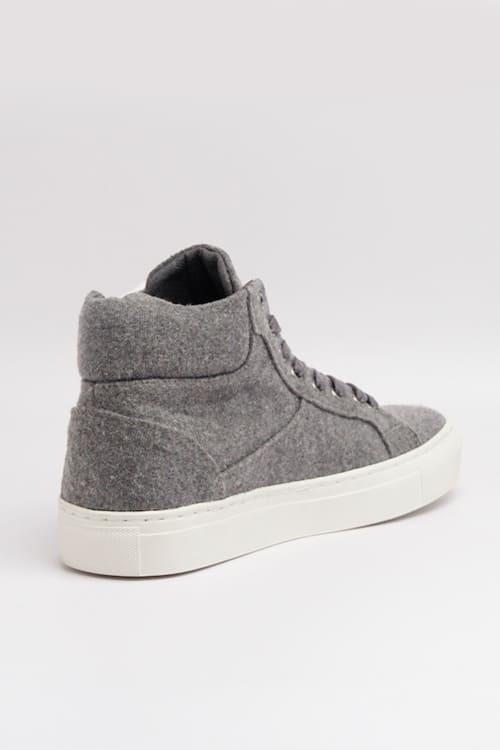 roberta organic fashion Grand Step shoes Sneaker Hightop Sally felt grey