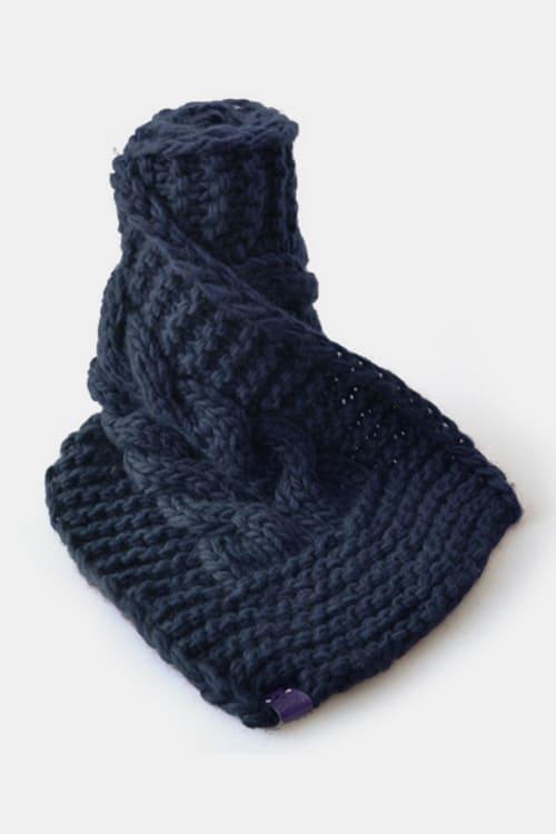roberta organic fashion Grannys finest Schal Teun jeansblau 1
