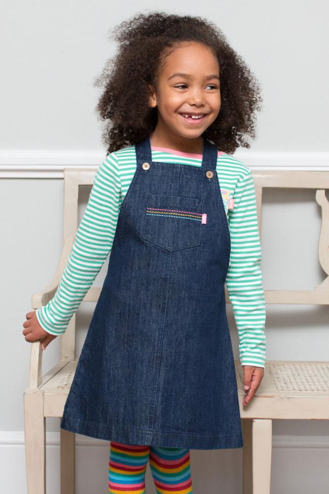roberta organic fashion Jeanskleid für Mädchen getragen