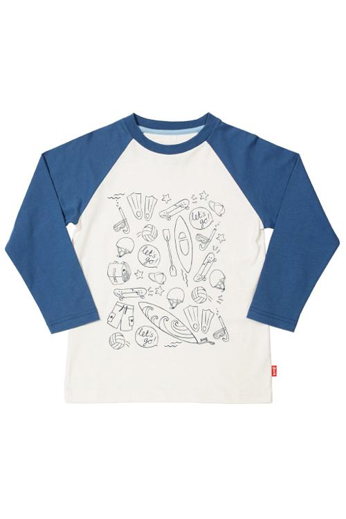 Longsleeve mit Raglanärmeln und Adventure Print von Kite Clothing